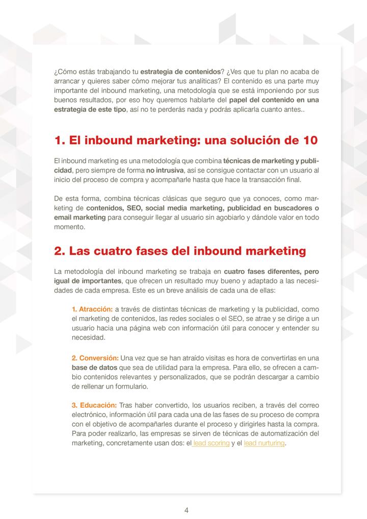 P4 - El papel de los contenidos en el inbound marketing