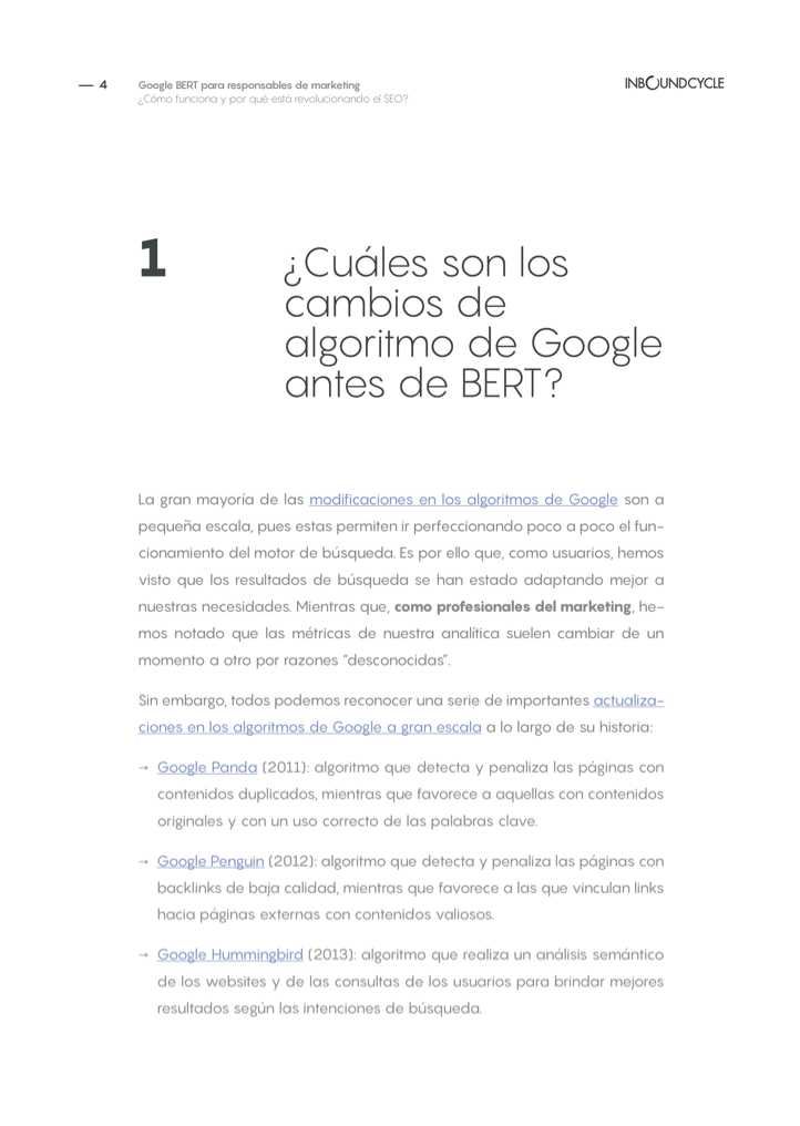 P4 - Google BERT para responsables de marketing